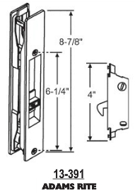 Flush Mount Patio Door Handles 13-391
