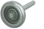 "Steel Roller 3""x 4""Stem 10 Ball-Bearing"