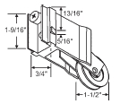 Precision Patio Door Rollers - Weatherlite/Lawson 1-1/2 Inch