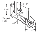 Precision Patio Door Rollers - Pan Am/AAA 1-1/2 Inch