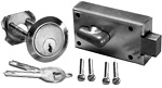 Stamped Deadbolt Cylinder Set Mounting Hardware Included
